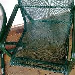 The chair at the verandah. Be careful, dont fall through