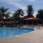 Hotel swimming pool and bar