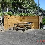 The BBQ area-in the carpark