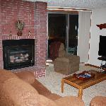 Nice gas fireplace in living room