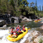Inflatable rafting near Arnold, California