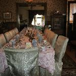  Magnificent dining table and antiques