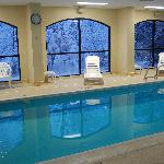  Pool with snowy scene thru window