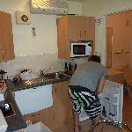 Kitchen bathroom very close