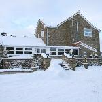 Cropton Forest Lodge in the snow