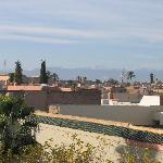  View of Atlas mountains from El Arsat roof