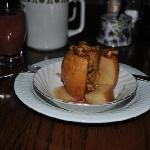 Baked apple, which was a part of breakfast