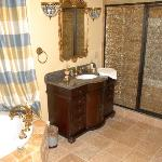  Partial view of magnficent bathroom in Honeymoon Suite