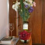  Beautiful flowers and wine courtesy of the hotel!