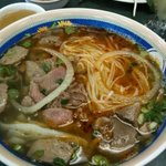 Pho thanh special (#1) with sate sauce in the side.