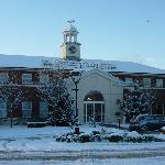 front of hotel-snowbound