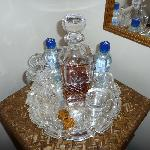  Complementary decanter of brandy