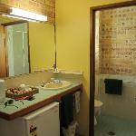  The toilet and basin area
