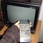 Old but working TV.  According to the notes on the remote there was supposed to be a couple of c