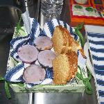 Lavender cakes and toast