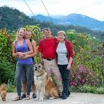 Lise, Rolf, Tara, Myself and the dogs