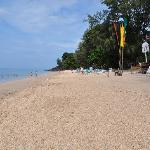 The beach at Sayang Beach Bungalows