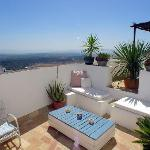 One of the private terraces