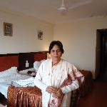 Aruna in room