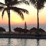  Sunset from Mayan Palace pool