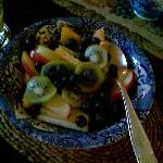 fresch fruit at the breakfast