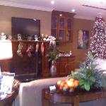 lobby at holiday time