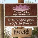 Sign to the Lodge and Lucero