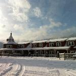 The main lodge with a fresh coating of snow.
