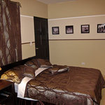  view of one of our rooms with 2 full size beds