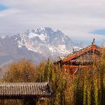 Awesome view of Jade Dragon Mountain from Lijiang Grand hotel area