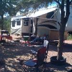  One of our 80+ large, level and beautiful full service campsites