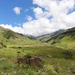 At the base of the Sani Pass route