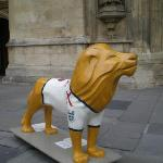 Lions were scattered all over the town centre