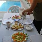 Breakfast / Fruehstueck pool