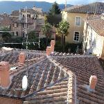 Terra cotta rooftops from our hotel room window