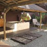  The patio with hot tub