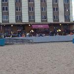 Front view from ocean, notice the rocking chairs!