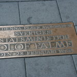 Olof Palme Memorial Plaque