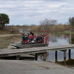 Airboat returning from trip