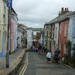 The walk to Padstow town centre