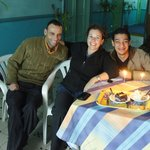  Sharing anniversary cake with Luna staff (Tarek is on the right)