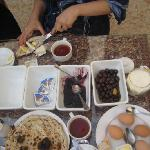 The breakfast in beit Al Salam was really good
