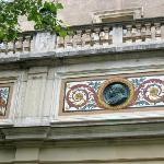 one of the medallions of local engravers,architects,sculptors...