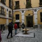  the hostal access is through a inner courtyard
