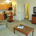 The living room area of our suites provides plenty of space to work, play or relax.