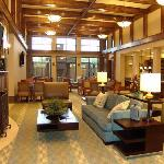 Our lodge area is where we serve breakfast every morning and a light dinner on weeknights. Both