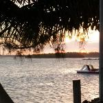 view from the Boathouse down the street from Mangos
