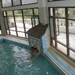 Sulphur spring water pool at Tattapani hotel