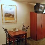 Dinette table and armoire, Microtel in Bellevue, NE.