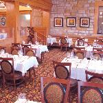 Newly renovated dining room at the lodge